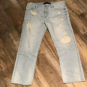 Express Ankle Boyfriend Destroyed Jeans - size 6